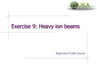 Exercise 9: Heavy ion beams