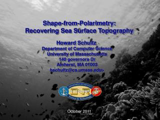 Shape-from-Polarimetry: Recovering Sea Surface Topography