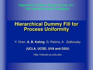 Hierarchical Dummy Fill for Process Uniformity