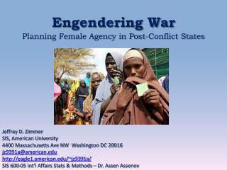 Engendering War