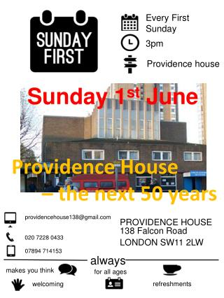 PROVIDENCE HOUSE 138 Falcon Road LONDON SW11 2LW