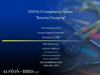 "EMTALA Compliance Update ""Reverse Dumping"""