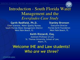 Introduction - South Florida Water Management and the Everglades Case Study