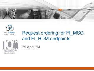 Request ordering for FI_MSG and FI_RDM endpoints