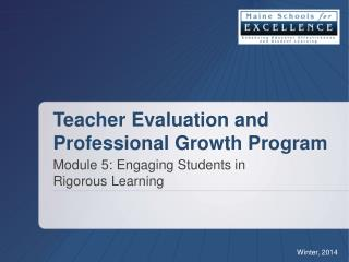Teacher  Evaluation and Professional Growth Program