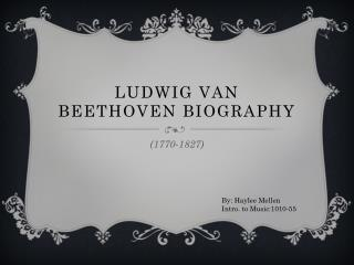 Ludwig van Beethoven Biography