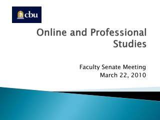 Online and Professional Studies