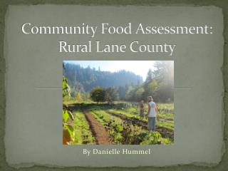 Community Food Assessment: Rural Lane County