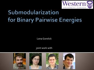 Submodularization for Binary  Pairwise  Energies