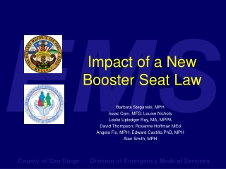 Impact of a New Booster Seat Law