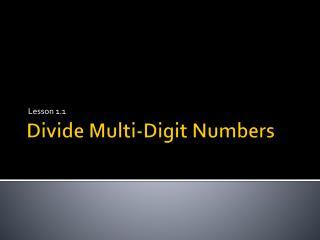 Divide Multi-Digit Numbers