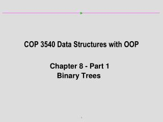 COP 3540 Data Structures with OOP
