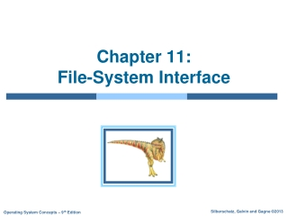 Chapter 5   File Systems