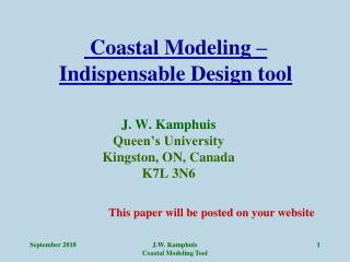 Coastal Modeling – Indispensable Design tool