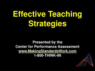 Effective Teaching Strategies