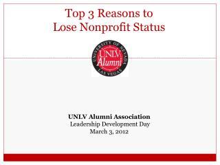 Top 3 Reasons to Lose Nonprofit Status