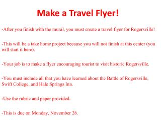 Make a Travel Flyer!
