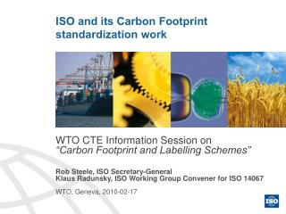 ISO and its Carbon Footprint standardization work