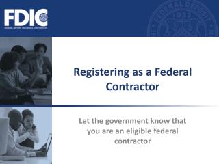 Registering as a Federal Contractor