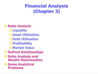 Financial Analysis (Chapter 3)