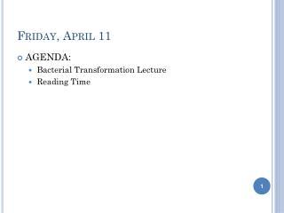 Friday, April 11