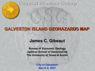 GALVESTON ISLAND GEOHAZARDS MAP