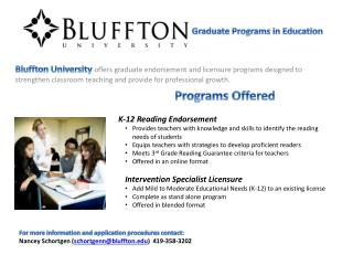 Graduate Programs in Education