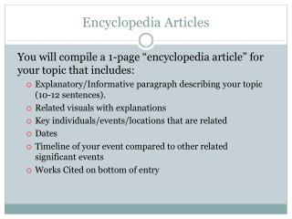 Encyclopedia Articles