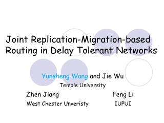 Joint Replication-Migration-based Routing in Delay Tolerant Networks