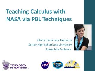 Teaching Calculus with  NASA  via  PBL  Techniques