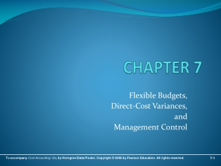 Chapter 11: Flexible Budgets and Overhead Analysis