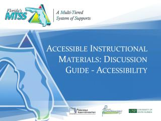 Accessible  Instructional  Materials:  Discussion  Guide - Accessibility