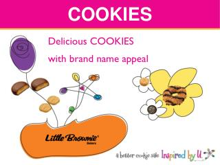 Delicious COOKIES with brand name appeal