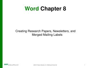 Word  Chapter  8
