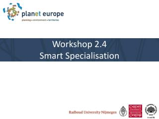 Workshop 2.4  Smart  Specialisation
