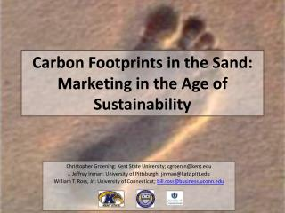 Carbon Footprints in the Sand: Marketing in the Age of  Sustainability