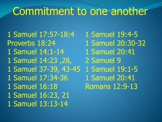 Commitment to one another