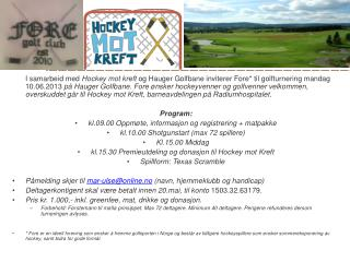 Fore golfturnering
