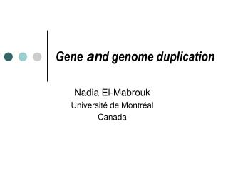 Gene  an d genome duplication