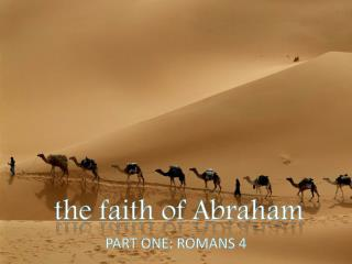 the faith of Abraham