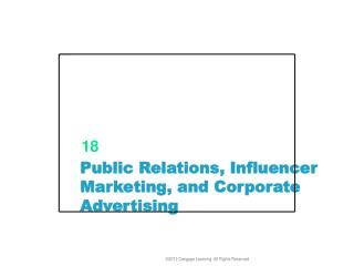Public Relations, Influencer Marketing, and Corporate Advertising