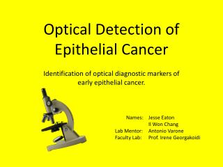 Optical Detection of Epithelial Cancer