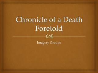 Chronicle of a death foretold essay