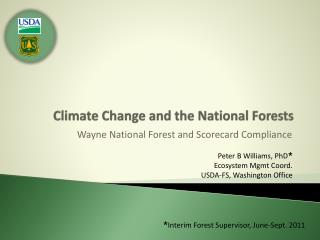 Climate Change and the National Forests