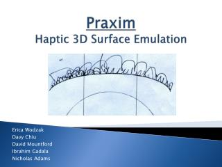 Praxim Haptic  3D Surface Emulation