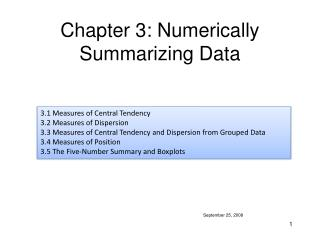 Chapter 3: Numerically Summarizing Data