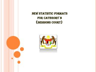 new statistic formats  for category b (sessions court)