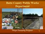 Butte County Public Works Department
