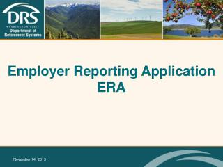 Employer Reporting Application ERA