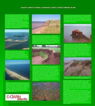 COASTAL IMPACTS UNDER A CHANGING CLIMATE, PRINCE EDWARD ISLAND